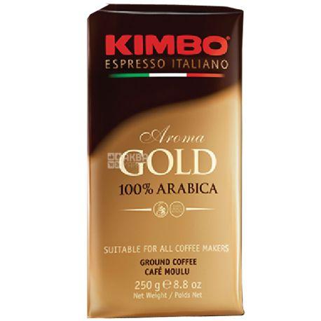 Kimbo Aroma Gold, 250 г, Кофе Кимбо Арома Голд, средней обжарки, молотый