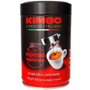 Kimbo Espresso Napoletano, 250 г, Кофе Кимбо Эспрессо Наполетано, темной обжарки, молотый, ж/б