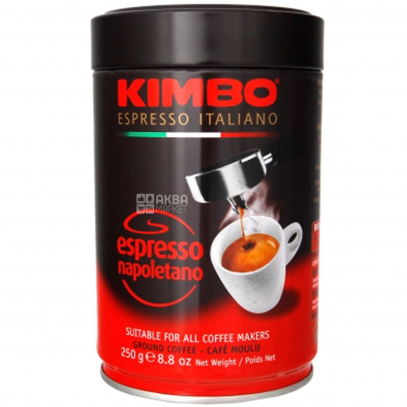 Kimbo, 250 г, Кофе молотый, Espresso Napoletano, ж/б