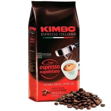 Kimbo Espresso Napoletano, 250 г, Кофе Кимбо Эспрессо Наполитано, темной обжарки, в зернах
