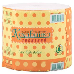Kohavinka, Packing 8 rolls, Toilet paper, Monolayer, Gray, m / s