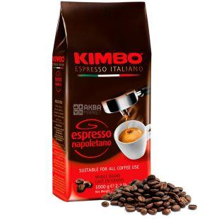 Kimbo Espresso Napoletano, 1 кг, Кофе Кимбо Эспрессо Наполетано, темной обжарки, в зернах