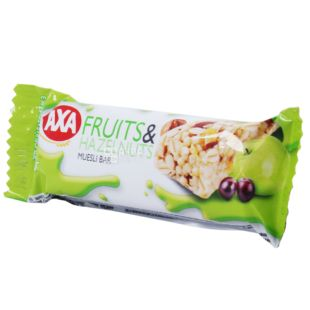 AXA, 23 g, Bar-muesli, Fruit and nuts