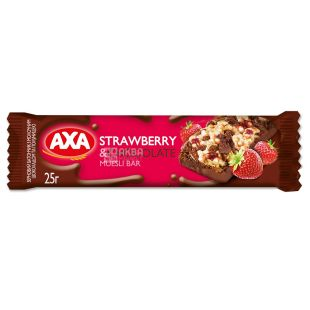 AXA, 25 g, Bar-muesli, Strawberries and milk chocolate