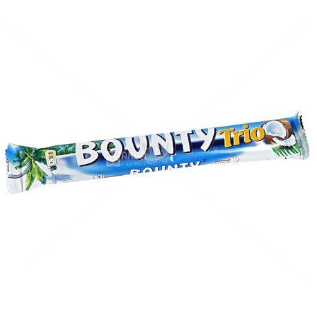 Bounty Trio, 85,5 г, Батончик шоколадный, Баунти Трио