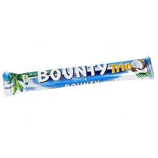 Bounty, 85.5 g, Chocolate bar, Trio