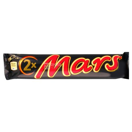 Mars Duo, 70 г, Батончик шоколадный, Марс Дуо