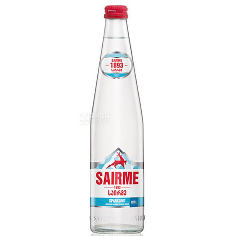 Sairme, 0,5 л, Вода газированная, Минеральная, стекло