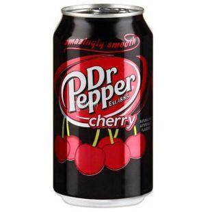 Dr Pepper, Cherry, 0,33 л, Доктор Пеппер, Вишня, Вода сладкая, ж/б