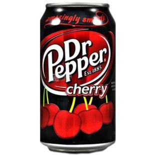 Dr Pepper, Cherry, 0,33 л, Доктор Пеппер, Вишня, Вода солодка, ж/б