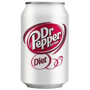 Dr Pepper, 0,33 л, Солодка вода, Diet, ж/б