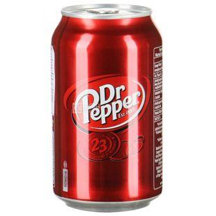 Dr Pepper, 0,33 л, Доктор Пеппер, Вода сладкая, ж/б