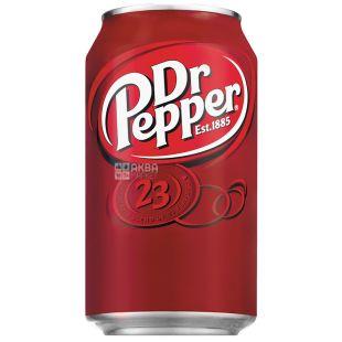Dr Pepper, 0,33 л, Доктор Пеппер, Вода солодка, ж/б