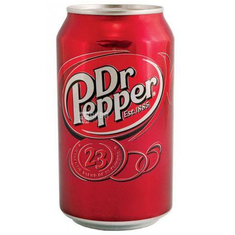 Dr Pepper, 0,33 л, Сладкая вода, ж/б