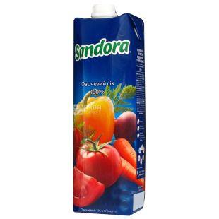 Sandora, Овочевий, 0,95 л, Сандора, Сік натуральний, з м'якоттю