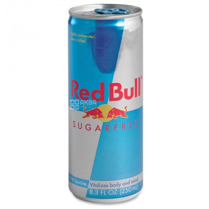 Red Bull Sugarfree, 0,25 л, Напиток энергетический Ред Булл, без сахара
