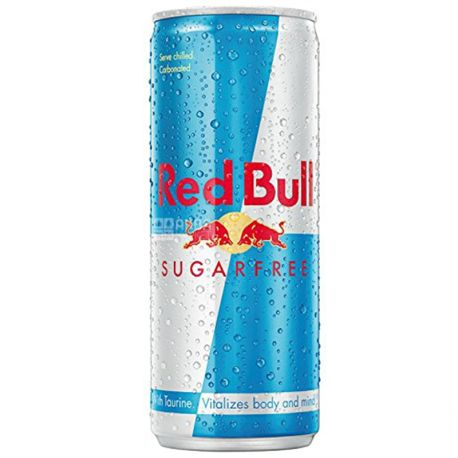 Red Bull, 0,25 л, Напиток энергетический, Sugar Free, ж/б
