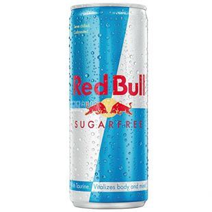 Red Bull Sugarfree, 0,25 л, Напиток энергетический Ред Булл, без сахара