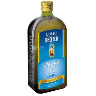 De Cecco, 500 мл, Олія оливкова, Сlassico, Еxtra vergine, скло