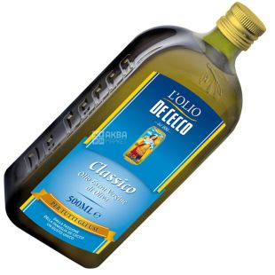 De Cecco, 500 ml, Olive oil, Сlassico, Extra vergine, glass