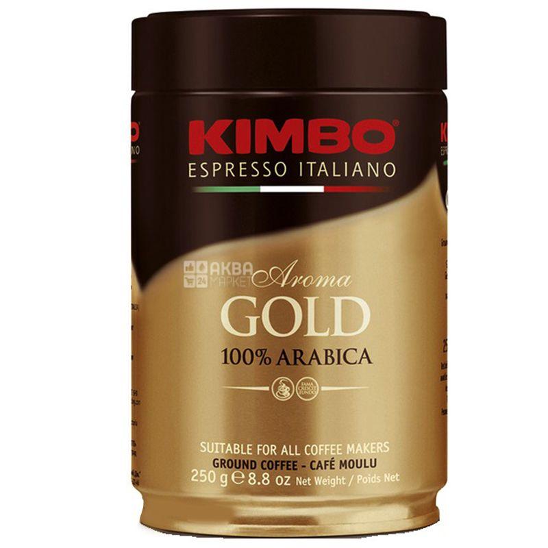 Kimbo, 250 г, Кофе молотый, Aroma Gold, ж/б