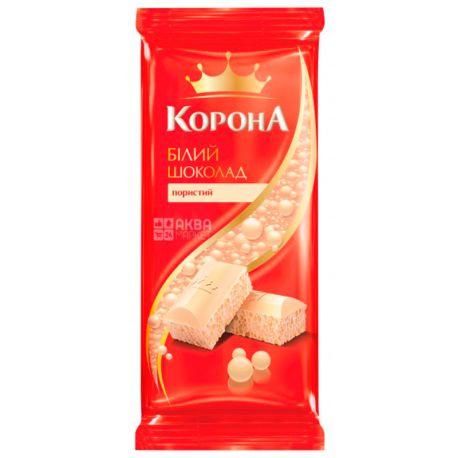 Корона, 90 г, Білий шоколад, Пористий