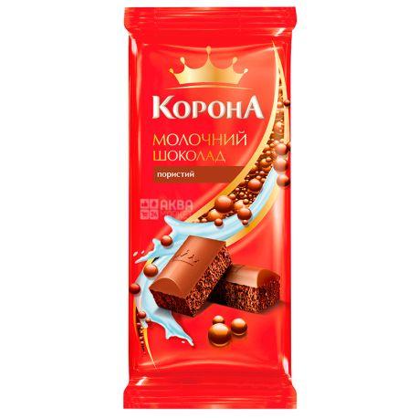 Корона, 90 г, Молочный шоколад, Пористый