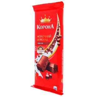 Корона, 90 г, Молочний шоколад, Пористий