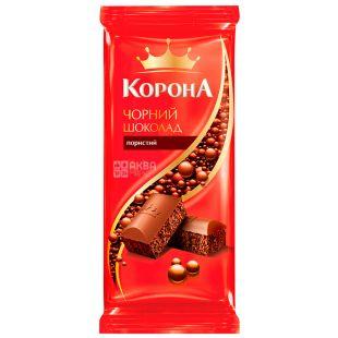 Корона, 90 г, Чорний шоколад, Пористий