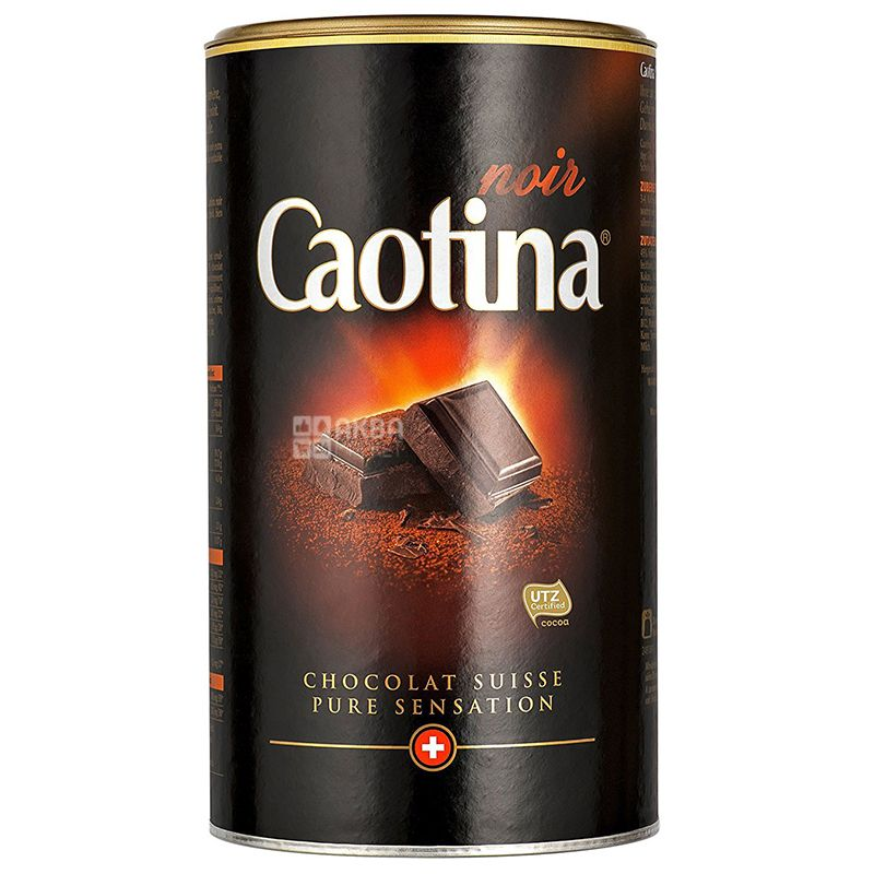 Caotina, 500 g, Hot chocolate, Noir, tube