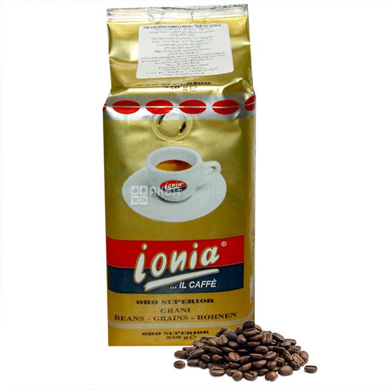Ionia Oro, 250 г, Кофе Иония Оро, средней обжарки, в зернах
