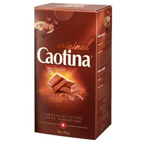 Caotina, 10 шт. по 15 г, Гарячий шоколад, Original, в стіках