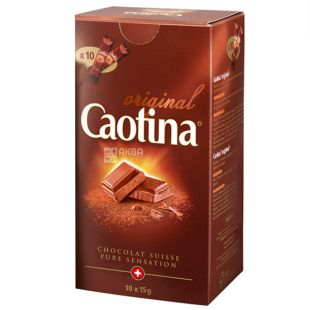 Caotina, 10 pcs. 15 g, Hot chocolate, Original, in sticks