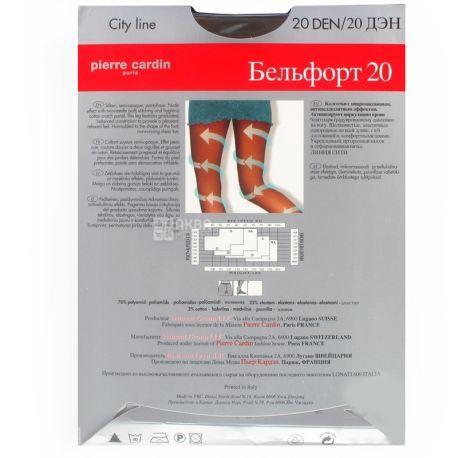 Pierre Cardin, 20 ден, розмір 3, Колготки поліамідні, Belfort, Чорні