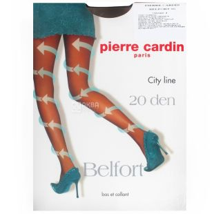 Pierre Cardin, 20 ден, розмір 4, Колготки поліамідні, Belfort, Чорні