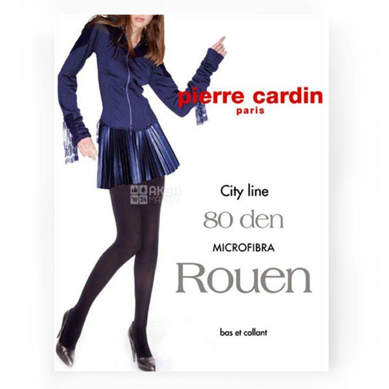 Pierre Cardin Rouen, Black polyamide tights, size 4, 80 den