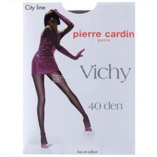 Pierre Cardin, 40 ден, розмір 2, Колготки поліамідні, Vichy, Чорні