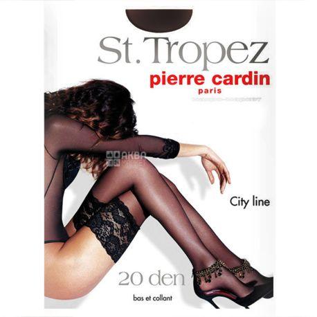 Pierre Cardin, 20 ден, размер 2, Чулки полиамидные, St. Tropez, Черные