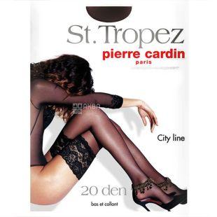 Pierre Cardin, 20 ден, розмір 4, Панчохи поліамідні, St. Tropez, Чорні