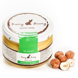 Huny Buny, 250 г, Крем-мед, Медовый фундук, стекло