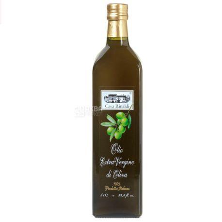 Casa Rinaldi, 1 л, Масло оливковое, Extra Vergine, Нефильтрованное, стекло