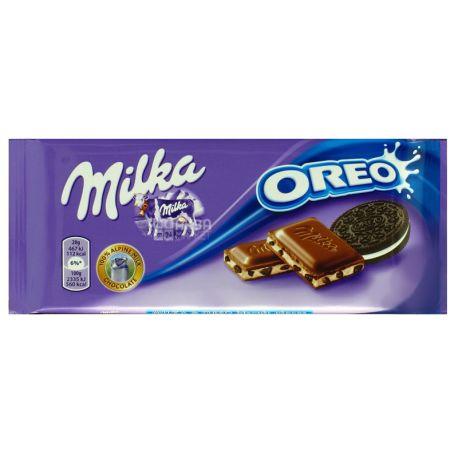Milka, 100 г, Молочный шоколад, Oreo