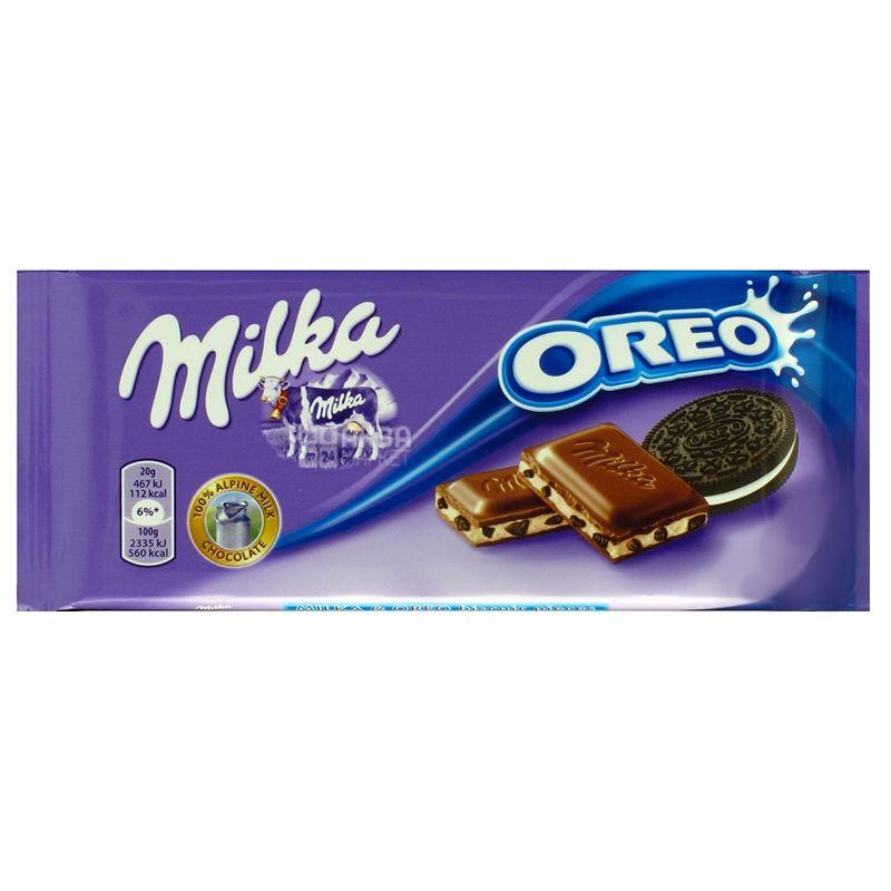Milka, 100 г, Молочний шоколад, Oreo