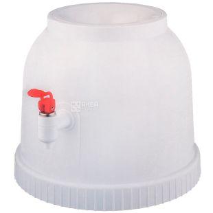 Dispenser for water, Plastic, White, For a bottle of 18.9 l