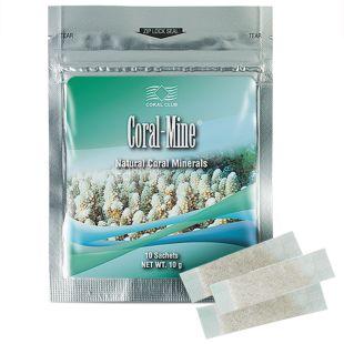 Coral-Mine, 10 пакетов по 1 г, Коралловый кальций