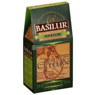 Basilur, 100 г, Чай зелений, The Island of tea Ceylon