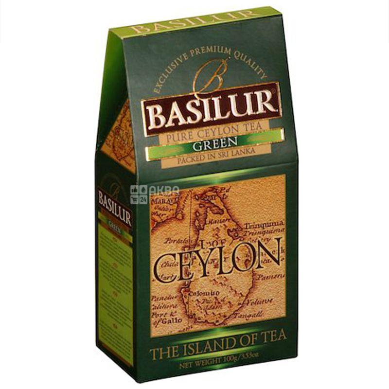 Basilur, The Island of tea Ceylon, 100 г, Чай Базілур, зелений