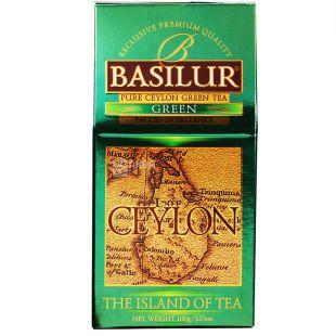 Basilur, 100 г, Чай зеленый, The Island of tea Ceylon