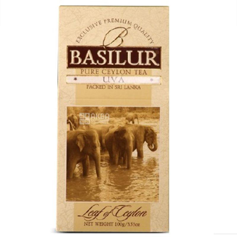 Basilur, UVA, 100 г, Чай Базілур, Ува, чорний