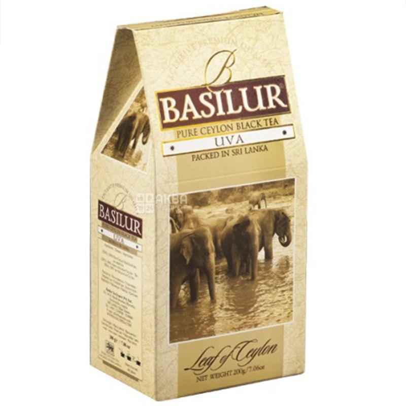 Basilur, UVA, 100 г, Чай Базилур, Ува, черный
